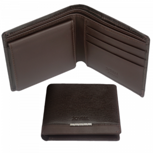 Jovial Wallets Brown Color Have 4 pockets for credit cards, 2 compartments for cash.