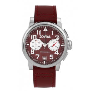 Jovial Men's Chronograph Watch Genuine Leather Band